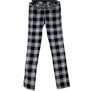 TRIPP NYC Plaid Black & White jeans size 3
